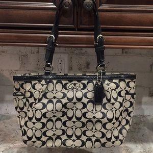 Coach signature black purse